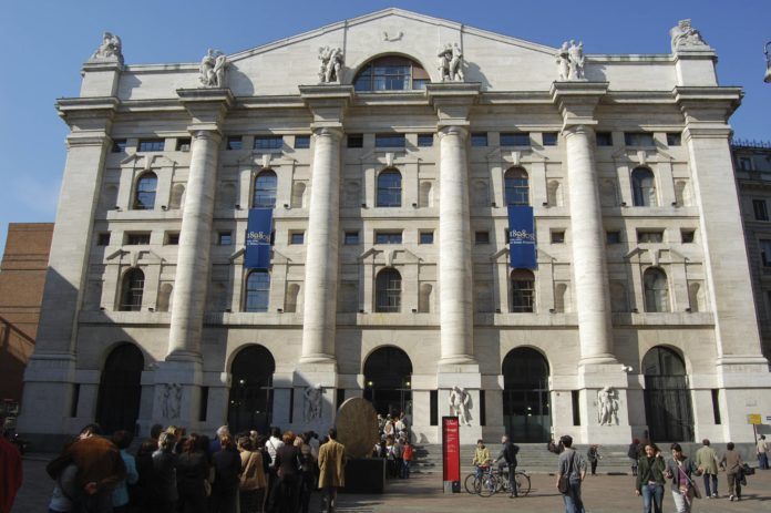 La Borsa di Milano, piazza degli Affari